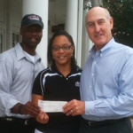 Tom Raney presents check to FCA
